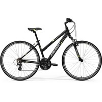 Велосипед Merida Crossway 10-V Lady Matt Black/Green/Grey (2017)